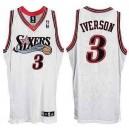 Philadelphia 76ers &3 Allen Iverson White Soul Swingman Jersey