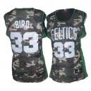 Boston Celtics &33 Larry Bird Soul Swingman Women Camouflage Jersey