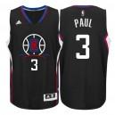 Los Angeles Clippers 2015-16 New Season Logo &3 Chris Paul Black Swingman Jersey