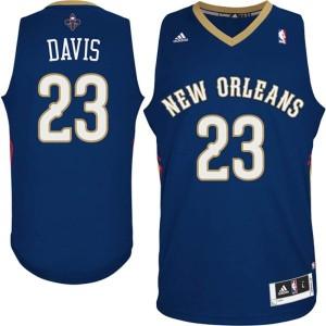 neue Orleans Pelicans Anthony Davis Marine Blau Kaufen Basketball Trikots