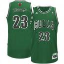 Chicago bulls &23 Michael Jordan ST Patricks Day Revolution 30 Swingman Green Jersey
