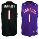 Toronto Raptors &1 Tracy McGrady Soul Swingman Purple & Black Jersey