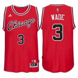 Herren Chicago Bulls 3 Dwyane Wade NBA Hardwood Classics Nächte roten neue Trikots