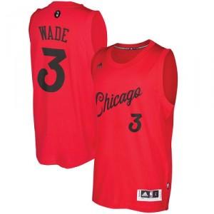 Herren Adidas Chicago Bulls 3 Dwyane Wade authentische rot 2016-2017 Weihnachtstag NBA-Trikot