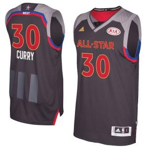 Herren Western Conference Stephen Curry Adidas Holzkohle 2017 NBA All-Star Game Swingman Trikot