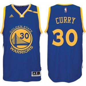 NBA Golden State Warriors #30 Stephen Curry Road blau 70. Jahrestag 42 Patch Trikot