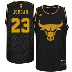 NBA-Michael Jordan authentische Männer schwarze Trikot - Adidas Chicago Bulls 23 Edelmetalle Mode