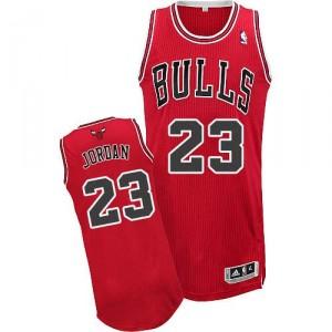 NBA-Michael Jordan authentische Männer rote Trikot - Adidas Chicago Bulls 23 Road