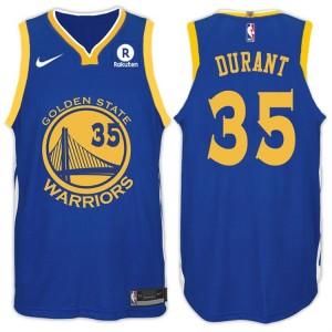 2017-18 Staffel Kevin Durant Golden State Warriors #35 Symbol Rakuten Royal Trikots
