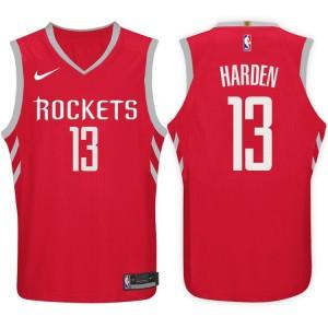 2017-18 Staffel James Harden Houston Rockets #13 Symbol Red Trikots