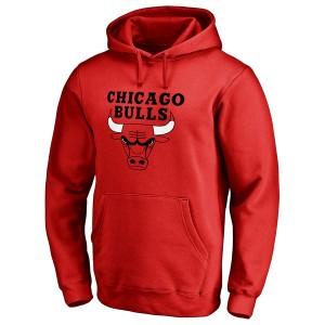Männlich Chicago Bulls Rot primär Logo Pullover Hoodie