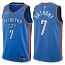 Männer 2017-18 Saison Carmelo Anthony Oklahoma City Thunder &7 Symbol Royal Trikots