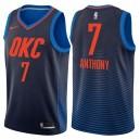 Männer 2017-18 Saison Carmelo Anthony Oklahoma City Thunder &7 Anweisung Navy Swinger Trikots