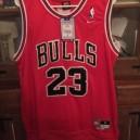 Saison Michael Jordan Chicago Bulls &23 Icon rot Trikots