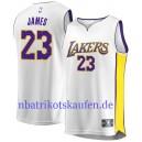 Fanatiker gebrandmarkt Lebron James Los Angeles Lakers Weiß 2017/18 fast Break Trikots – Association Edition