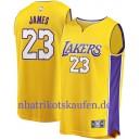 Fanatiker gebrandmarkt Lebron James Los Angeles Lakers Gold 2017/18 fast Brechen Trikots – Icon Edition