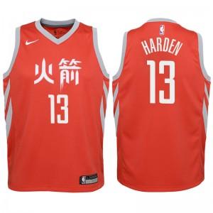 Jugend Houston Rockets # 13 James Harden Trikots-City Ausgabe