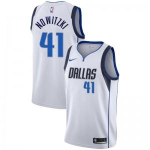 Dallas Mavericks Dirk Nowitzki # 41 Association Weiß Trikot