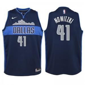 Jugend Dallas Mavericks # 41 Dirk Nowitzki Marine Swingman Trikot - Statement Ausgabe