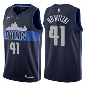 Dallas Mavericks für Männer # 41 Dirk Nowitzki - Navy-Swingman-Trikot