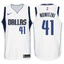 Dallas Mavericks für Männer ^ 41 Dirk Nowitzki Association Weißes Swingman-Jersey