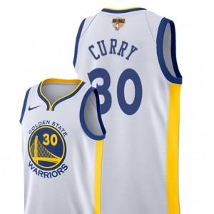 Weiß NBA-Endgültige Gebunden Fast Brechen Golden State Warriors # 30 Stephen Curry Association -Ausgabe Trikot - Männer