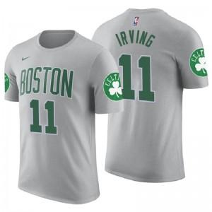 Herren Boston Celtics # 11 Kyrie Irving Grau Stadt Name und Nummer Trikot T-Shirt