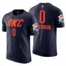 Oklahoma City Thunder der Männer ^ 0 Russell Westbrook Statement Navy Name und Nummer Jersey T-Shirt