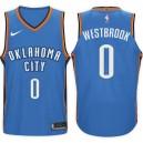 NBA Oklahoma City Thunder ^ 0 Russell Westbrook Icon Hellblaues Jersey