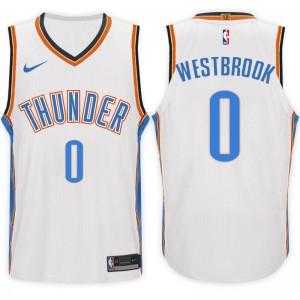 NBA Oklahoma City Thunder # 0 Russell Westbrook Association Weiß Trikot