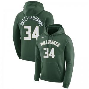 Milwaukee Bucks Giannis Antetokounmpo # 34 Essential Pullover Grün Hoodie
