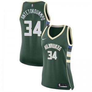 Milwaukee Bucks Women Giannis Antetokounmpo # 34 Symbol Grünes Trikot
