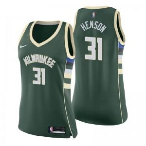 Frauen Milwaukee Bucks # 34 Giannis Antetokounmpo Symbol Ausgabe Grünes Swingman-Trikot