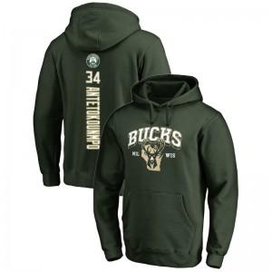 Milwaukee Bucks Giannis Antetokounmpo # 34 Backer Pullover Grün Hoodie