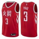 Herren Houston Rockets ^ 3 Chris Paul City Edition Rotes Swingman-Jersey