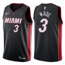 Schwarzes Swingman-Trikot der Männer Miami Heat ^ 3 Dwyane Wade