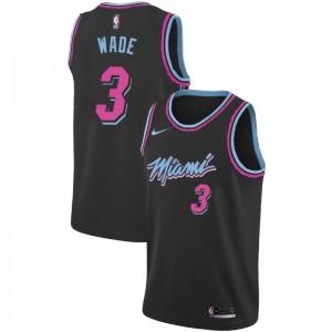Miami Heat Dwyane Wade # 3 City Schwarz Trikot