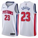 Detroit Pistons für Herren ^ 23 Blake Griffin Association Weißes Swingman-Trikot