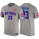 Detroit Pistons ^ 23 Blake Griffin Statement Graues T-Shirt mit Namen und Nummer
