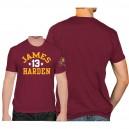 NCAA Männer Arizona State Sun Devils ^ 13 T-Shirt für James Harden College Performance - Maroon