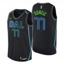 Männer NBA-Entwurf Dallas Mavericks ^ 77 Luka Doncic City Edition Schwarzes Swingman-Trikot