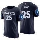Minnesota Timberwolves der Männer ^ 25 Derrick Rose Navy Icon Name und Nummer Jersey T-Shirt