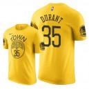 Golden State Warriors der Männer ^ 35 Kevin Durant erhielt T-Shirt - Gelb
