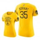 Golden State Warriors für Frauen ^ 35 Kevin Durant erhielt T-Shirt - Gold