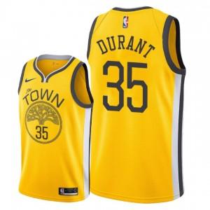 Golden State Warriors der Männer # 35 Kevin Durant Swingman Trikot - Gelb
