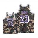 Herren Mitchell & Ness Los Angeles Lakers ^ 23 LeBron James Woodland Tarn-Trikot - Tarn