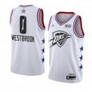Oklahoma City Thunder ^ 0 Weißes Russell Westbrook 2019 All-Star-Spiel Swingman Beendet Jersey Men