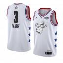 Miami Heat ^ 3 Weißes Dwyane Wade 2019 All-Star-Spiel Swingman fertige Jersey-Männer