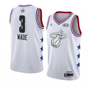 promo code a771d f8595 Miami Heat # 3 Weißes Dwyane Wade 2019 All-Star-Spiel ...