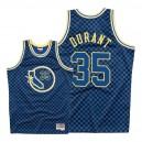 Mitchell & Ness - Golden State Warriors für Männer ^ 35 Kevin Durant - Schachbrett-Trikot - Royal